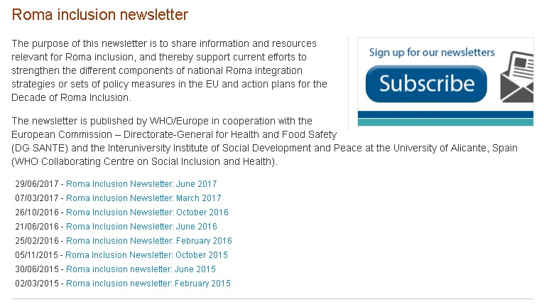 Roma inclusion newsletter