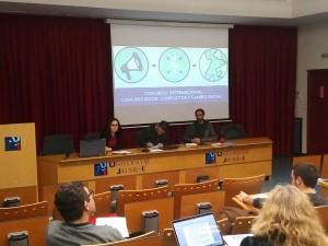 José Candón Mena, David Montero Sánchez, de la Universidad de Sevilla, y Alessandra Farné, de la Universitat Jaume I.